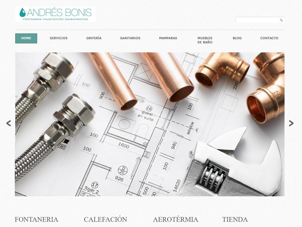 Página web andres bonis Fontaneria
