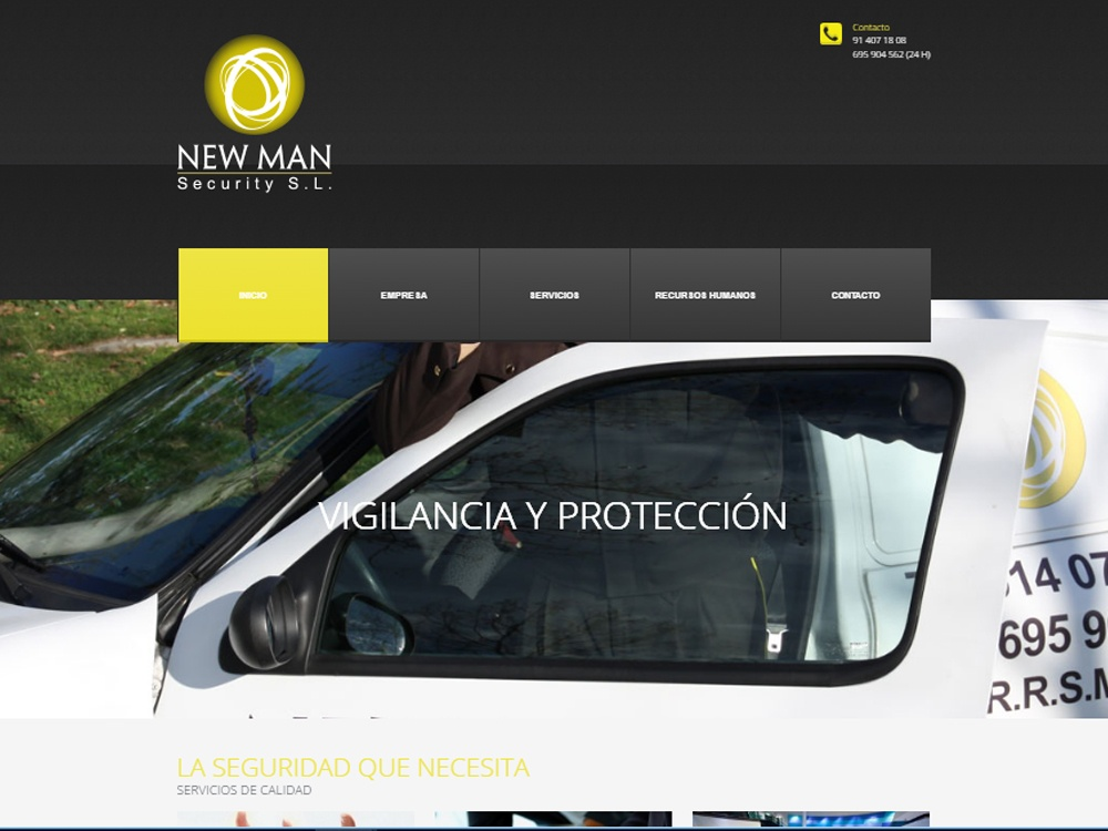 New man Security diseño web